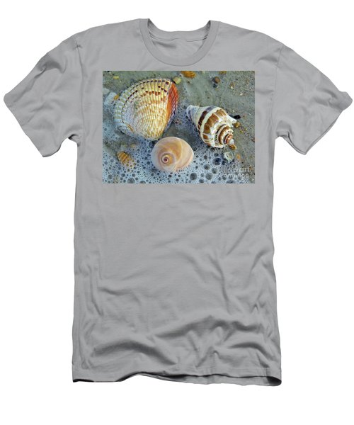 Beautiful Shells In The Surf Men's T-Shirt (Athletic Fit)