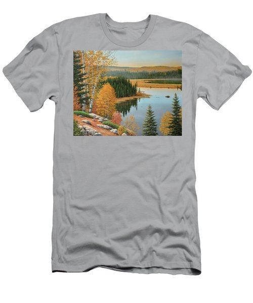 Beaver Pond Lookout Men's T-Shirt (Athletic Fit)