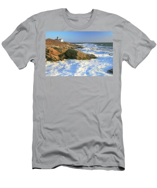 Beavertail Point And Lighthouse  Men's T-Shirt (Athletic Fit)