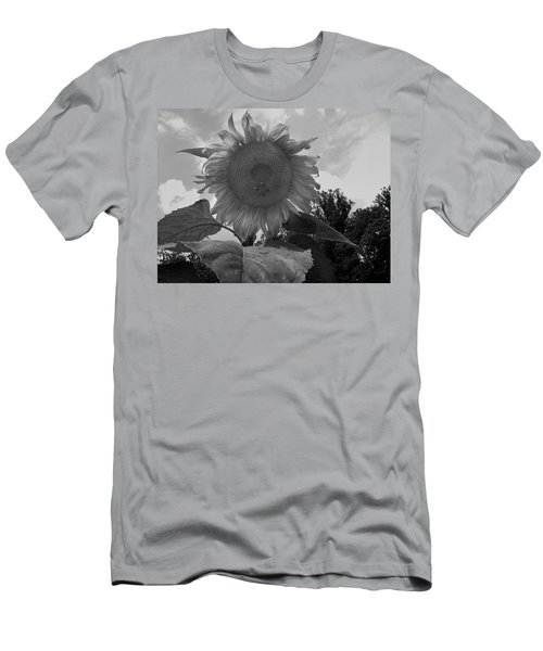 Men's T-Shirt (Slim Fit) featuring the digital art Bees On A Sunflower by Chris Flees