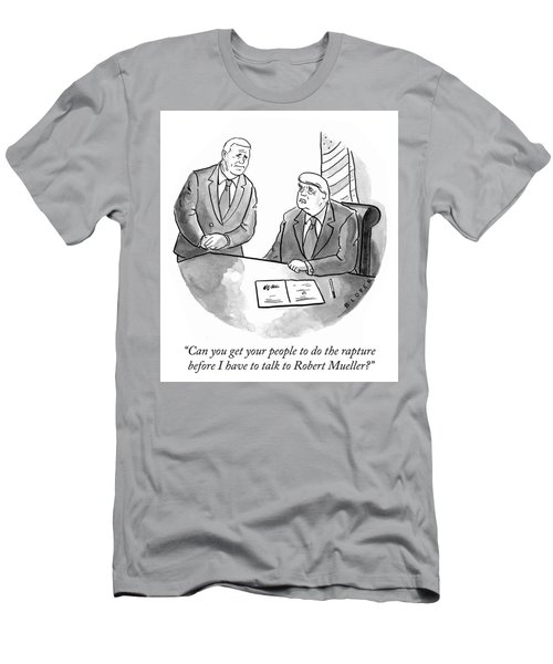 Before I Have To Talk To Robert Mueller Men's T-Shirt (Athletic Fit)