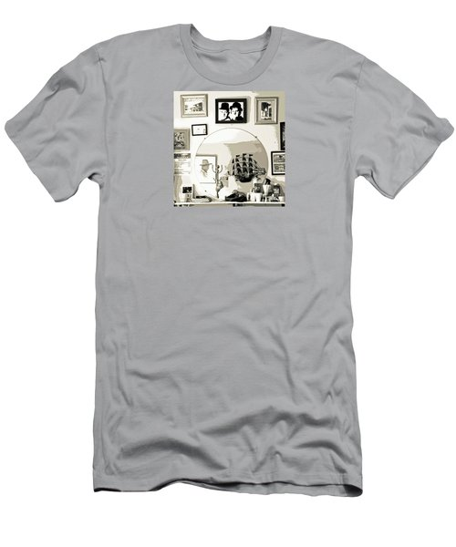 Men's T-Shirt (Slim Fit) featuring the photograph Behind The Barber Chair by Joe Jake Pratt