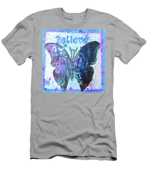 Believe Butterfly Men's T-Shirt (Athletic Fit)