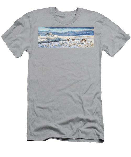 Belt Butte Winter Men's T-Shirt (Athletic Fit)