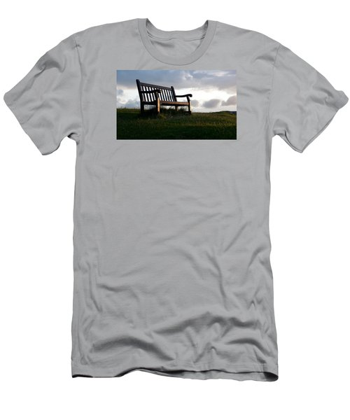Bench At Sunset Men's T-Shirt (Athletic Fit)