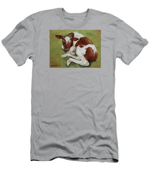 Bendy New Calf Men's T-Shirt (Slim Fit) by Margaret Stockdale