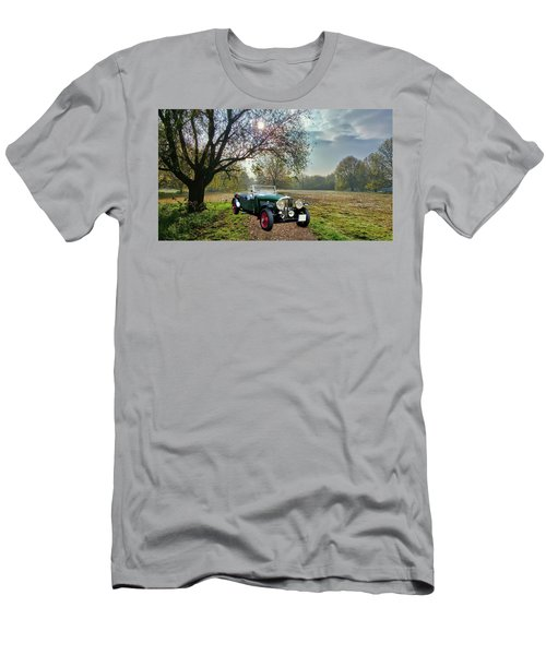 Men's T-Shirt (Athletic Fit) featuring the photograph Bentley On A Country Road by Ericamaxine Price