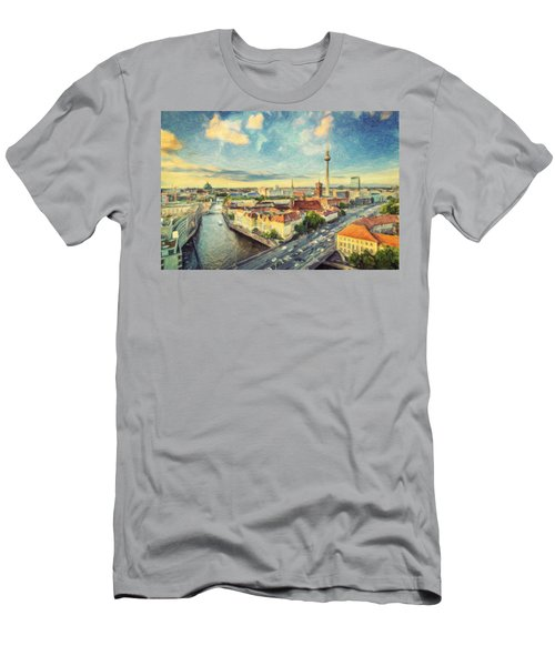 Berlin Skyline Men's T-Shirt (Athletic Fit)