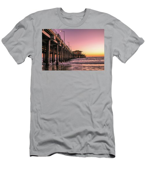 Men's T-Shirt (Athletic Fit) featuring the photograph Beside The Pier By Mike-hope by Michael Hope