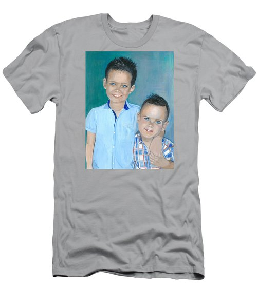 Best Brothers - Painting Men's T-Shirt (Slim Fit) by Veronica Rickard