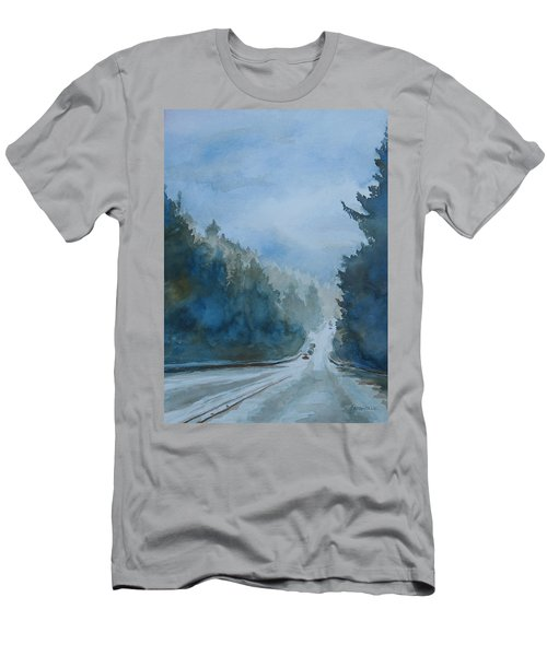 Between The Showers On Hwy 101 Men's T-Shirt (Athletic Fit)