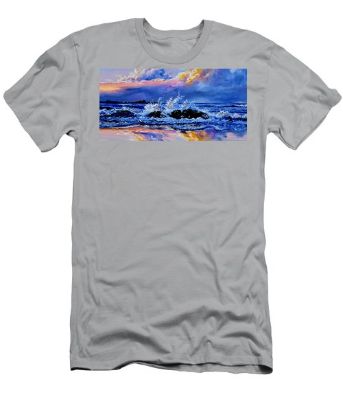 Men's T-Shirt (Athletic Fit) featuring the painting Beyond The Rocks by Hanne Lore Koehler