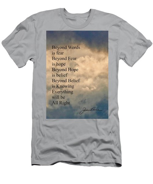 Men's T-Shirt (Athletic Fit) featuring the painting Beyond Words by Joan Reese