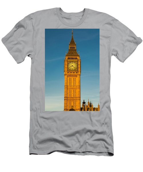 Big Ben Tower Golden Hour London Men's T-Shirt (Athletic Fit)