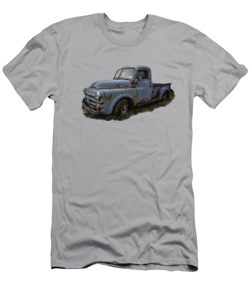 Big Blue Dodge Alone Men's T-Shirt (Slim Fit) by Debra and Dave Vanderlaan