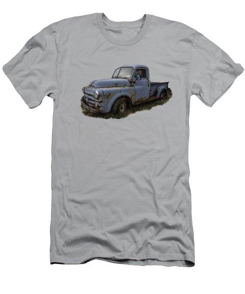 Big Blue Dodge Alone Men's T-Shirt (Athletic Fit)
