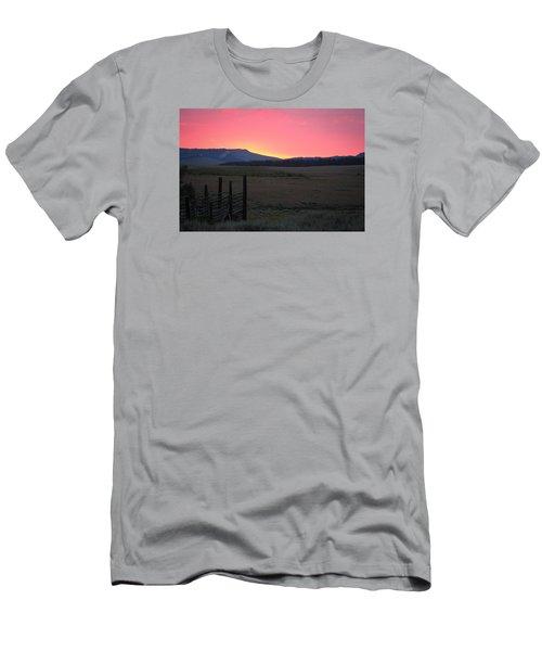 Big Horn Sunrise Men's T-Shirt (Slim Fit) by Diane Bohna