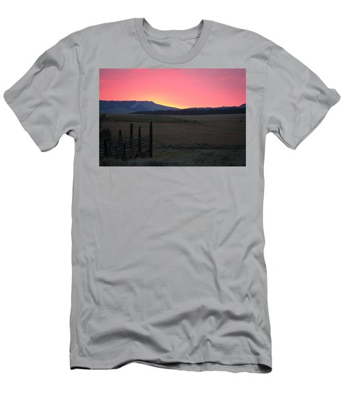 Big Horn Sunrise Men's T-Shirt (Athletic Fit)