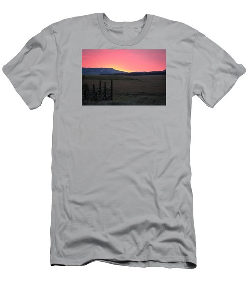 Big Horn Sunrise Men's T-Shirt (Slim Fit)