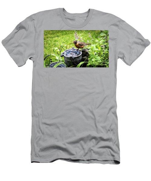 Big Red  Men's T-Shirt (Slim Fit)