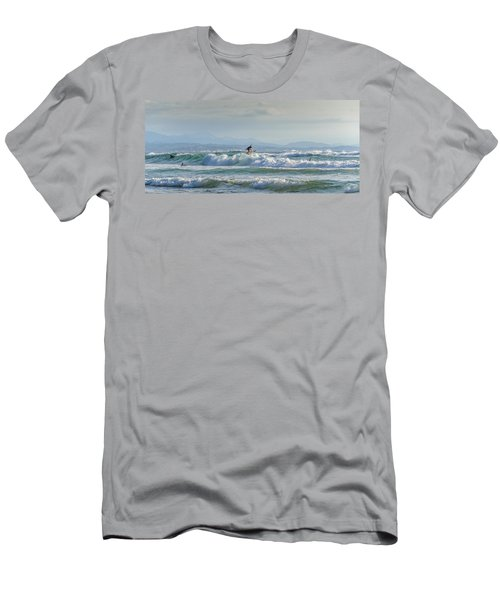 Men's T-Shirt (Slim Fit) featuring the photograph Big Surf Invitational I by Thierry Bouriat