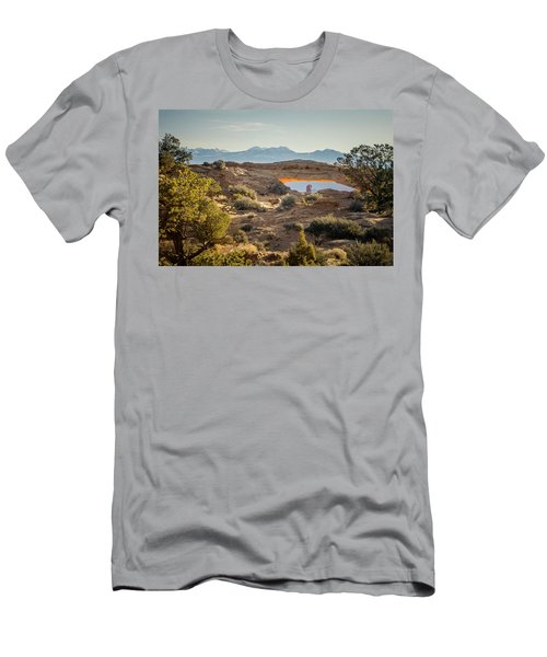 Bighorn Sheep And Mesa Arch Men's T-Shirt (Athletic Fit)