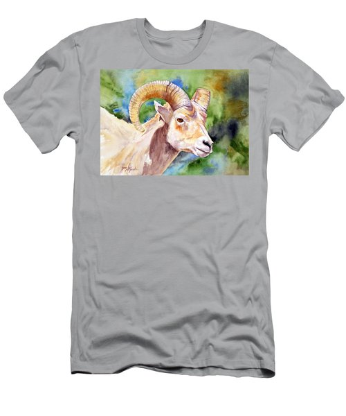 Bighorn Sheep Portrait Men's T-Shirt (Athletic Fit)
