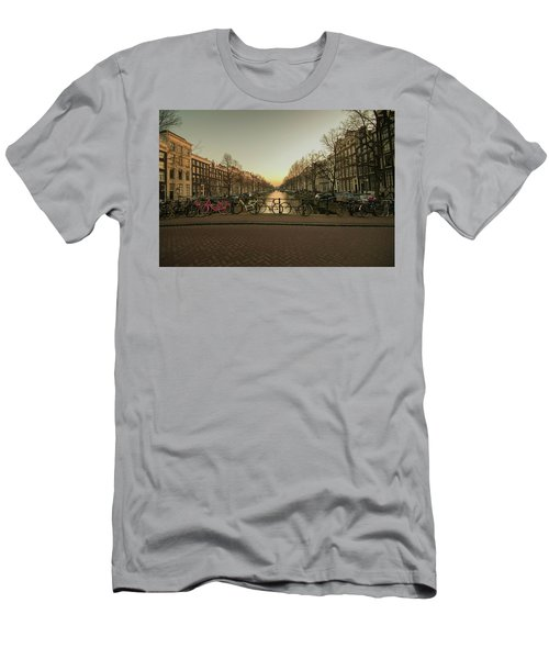 Bikes On The Canal Bridge Men's T-Shirt (Athletic Fit)