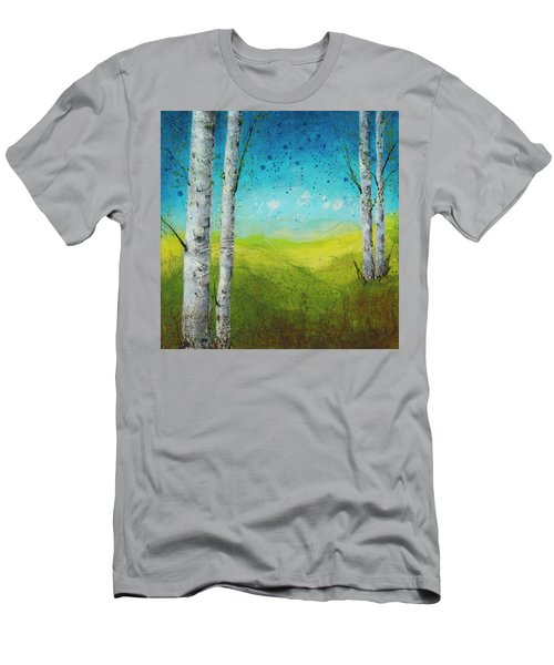 Birches In Green Men's T-Shirt (Athletic Fit)