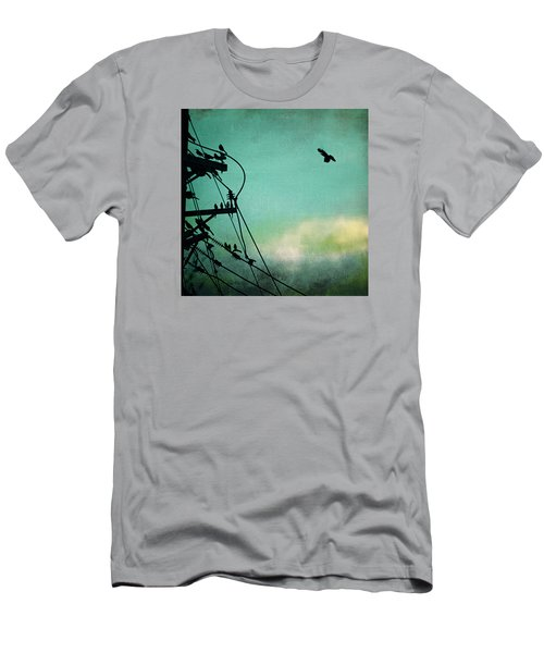 Men's T-Shirt (Slim Fit) featuring the photograph Bird City Revisited by Trish Mistric