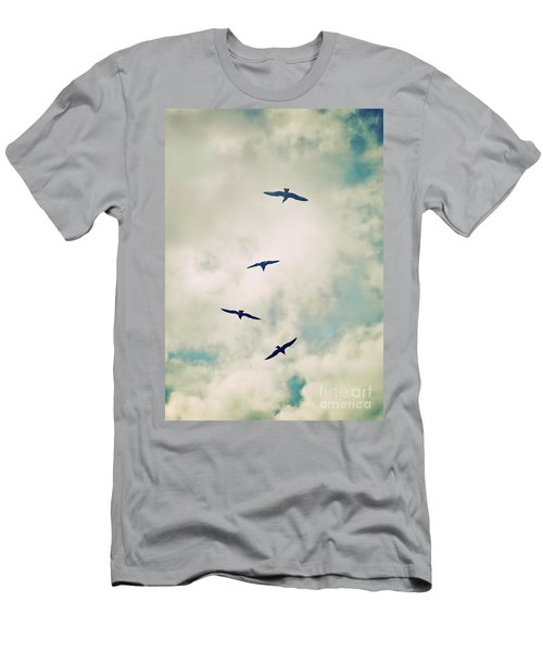 Men's T-Shirt (Slim Fit) featuring the photograph Bird Dance by Lyn Randle