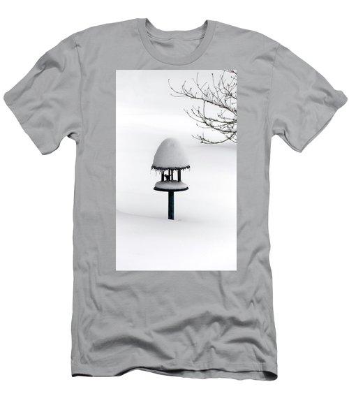 Bird Feeder In Snow Men's T-Shirt (Athletic Fit)