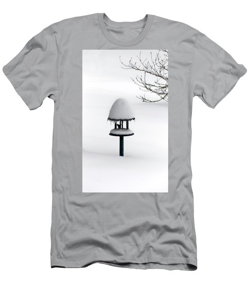 Bird Feeder In Snow Men's T-Shirt (Athletic Fit)