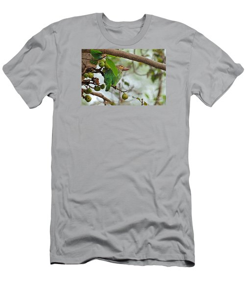 Men's T-Shirt (Slim Fit) featuring the photograph Bird In The Bush by Pravine Chester