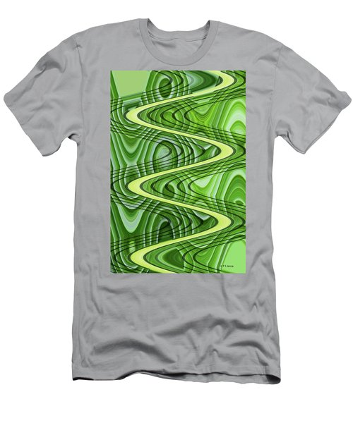 Bird Of Paradice Plant Leaf Abstract Men's T-Shirt (Athletic Fit)