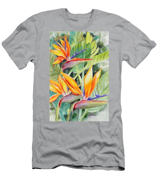 Bird Of Paradise Flowers Men's T-Shirt (Athletic Fit)