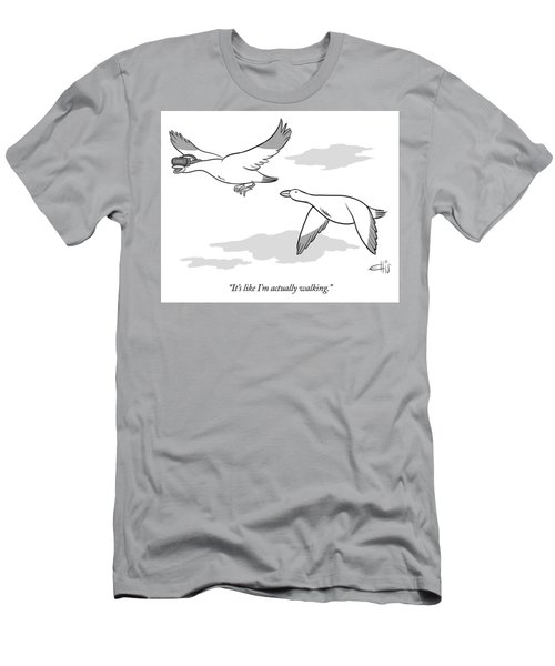 Bird Wearing Virtual Reality Goggles Men's T-Shirt (Athletic Fit)