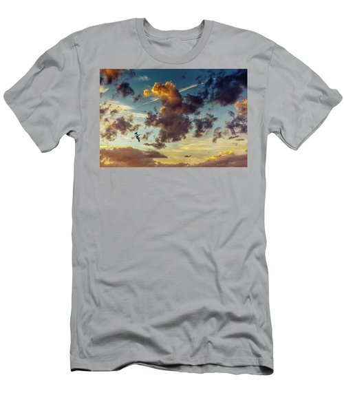 Birds In Flight At Sunset Men's T-Shirt (Athletic Fit)