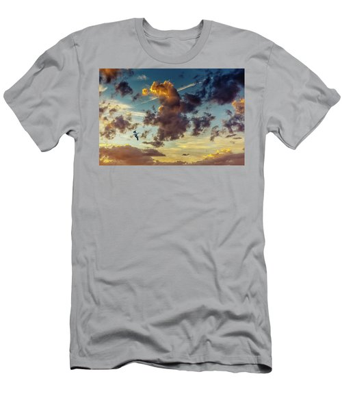 Birds In Flight At Sunset Men's T-Shirt (Athletic Fit)