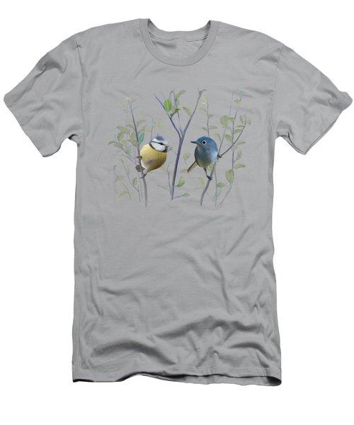 Birds In Tree Men's T-Shirt (Slim Fit) by Ivana