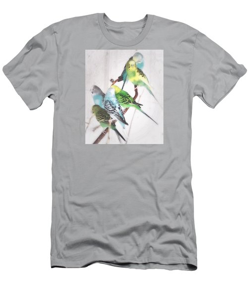 Men's T-Shirt (Slim Fit) featuring the photograph Birds Of A Feather by Robin Regan
