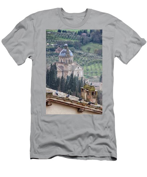 Birds Overlooking The Countryside Men's T-Shirt (Athletic Fit)