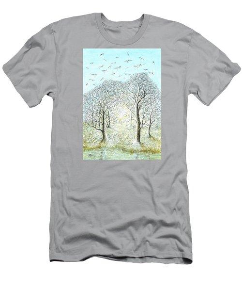 Birds Swirl Men's T-Shirt (Athletic Fit)