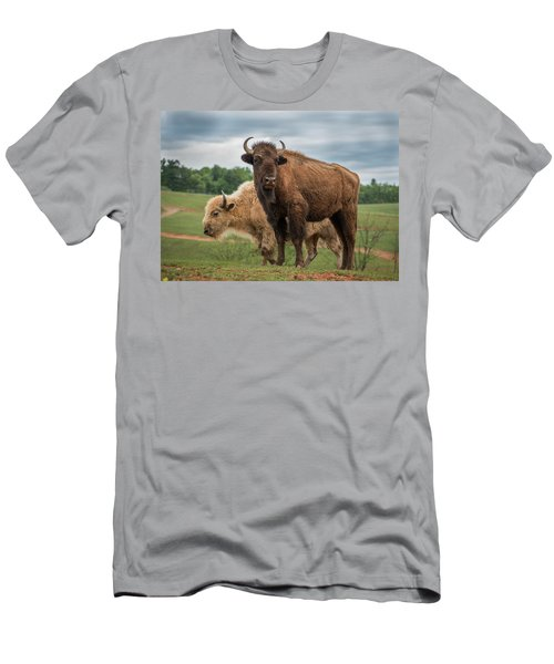 Men's T-Shirt (Athletic Fit) featuring the photograph Bison 10 by Joye Ardyn Durham