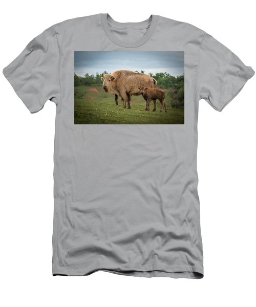 Men's T-Shirt (Athletic Fit) featuring the photograph Bison 7 by Joye Ardyn Durham