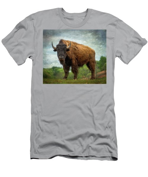 Men's T-Shirt (Athletic Fit) featuring the photograph Bison 9 by Joye Ardyn Durham