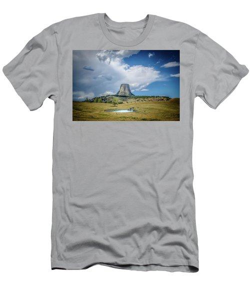 Bison Pond Men's T-Shirt (Slim Fit) by Mark Dunton