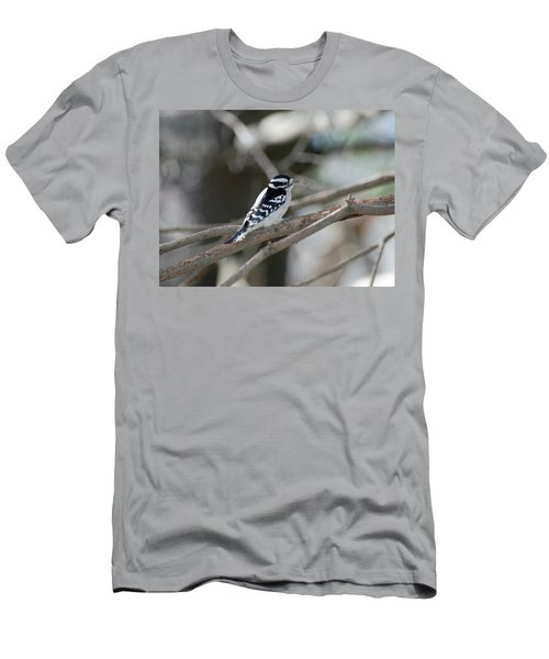 Black And White Bird Men's T-Shirt (Athletic Fit)