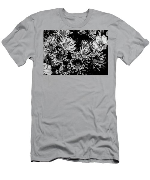 Black And White Bouquet Men's T-Shirt (Athletic Fit)