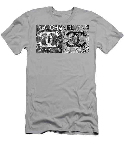 Black And White Chanel Art Men's T-Shirt (Athletic Fit)